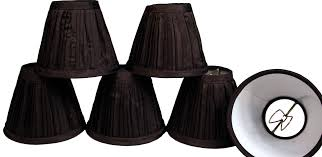 chandelier shades clip on. Get Quotations · Creative Hobbies Black Pleated Fabric Candle Lamp \u0026 Chandelier Shades -Clip On Bulb (Pack Clip H