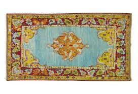 antique turkish rug with unusual blue 3 2 x 5 7