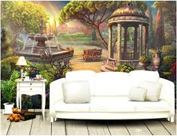 3d mural wallpaper room custom photo garden fountain background wall  painting picture murals for walls 3