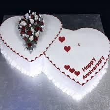 Heart Shape Anniversary Cake Wishes With Name Awesomenamepics