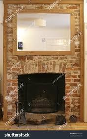 Renovate Brick Fireplace Old Brick Fireplace Renovated House England Stock Photo 25694356