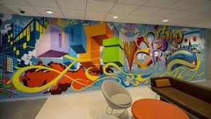 office graffiti wall. Optiver Graffiti Chicago Office Mural Wall -