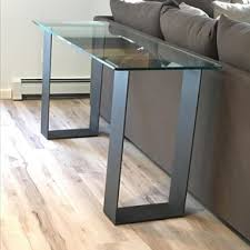 contemporary sofa tables. Glass And Steel Contemporary Sofa Table / Console Tables