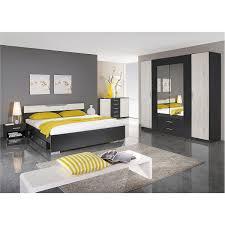 Schlafzimmer Set Cartagena Bett Nako Schrank Grau Metallic Eiche
