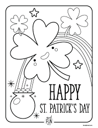 St Patrick Coloring Pictures Cute Clover St Day Printable Land Of ...