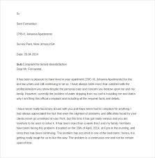 14 Tenant Complaint Letter Templates Pdf Doc Free Premium