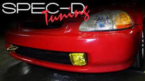 2000 Honda Accord Yellow Fog Lights Specdtuning Installation Video 1996 1998 Honda Civic Fog Lights