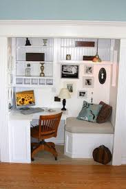 office in a closet. Office With Reading Nook In A Closet E