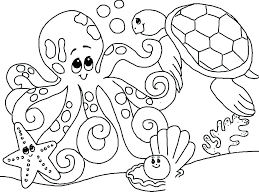 Sea Fish Coloring Pages Sea Creature Coloring Pages Coloring Pages