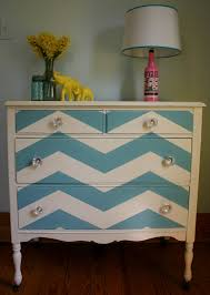 chevron painted furniture. Chevron Dresser - Painting My Thrift Store Find This Weekend The Same Way Only With Yellow Painted Furniture W