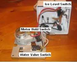 ge icemaker repair when the icemaker gets cold enough the thermostat trips and bypasses the motor switch that will start the motor provided the ice level switch is tripped