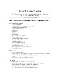 Sample Etl Testing Resume Fancy Testing Resume With Additional