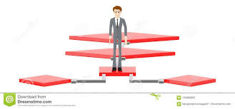 3d Character Man Standing Over A Flow Chart Stock