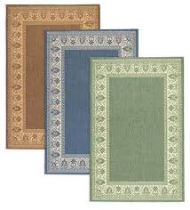 veranda border indoor outdoor rug 2 x