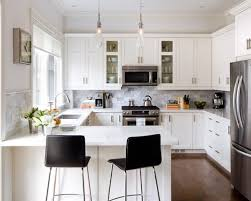 Endearing Small Kitchen With White Cabinets Small White Kitchen Ideas  Pictures Remodel And Decor