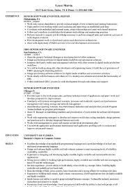 professional software engineer resumes senior software engineer resume samples velvet jobs
