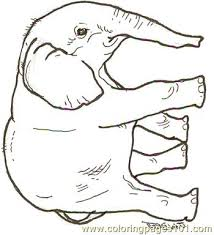 Small Picture Baby Elephant Reversed Coloring Page Free Elephant Coloring