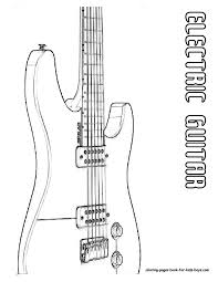 Small Picture Classic Electric Guitar Coloring Page You Can Print Out This