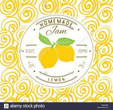 Food Product Label Design Template Jam Label Design Template For Lemon Dessert Product With