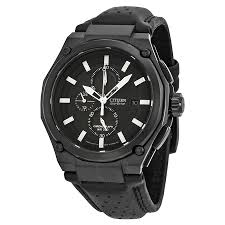 citizen sport eco drive chronograph black dial black ip steel citizen sport eco drive chronograph black dial black ip steel men s watch ca0315 01e