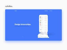 Product Design Internships Cofolios Design Internships By Hasque On Dribbble