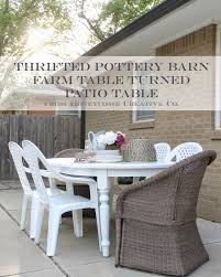 outdoor furniture white. Thrifted Pottery Barn Table {How To Turn Indoor Furniture Into Outdoor Furniture} White O