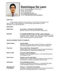 Resume Format For Ojt Resume Template Easy Http Www