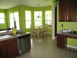 colors green kitchen ideas. Brilliant Kitchen White Ceramic Floor With Soft Green Paint Color For Casual Kitchen Ideas In Colors