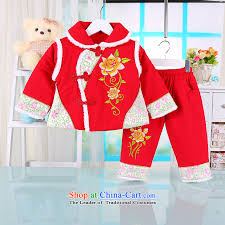 the baby girl autumn and winter coat two kits baby tang dynasty 0 1