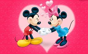 cartoon cute love couple mickey and minnie mouse hd wallpaper 05780