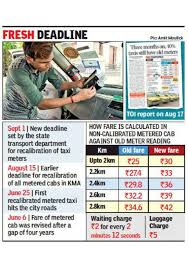 Mumbai Taxi Fare Chart 2017 Exact Fare On Cab Meters From September 1 Kolkata News