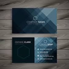 Dark Business Card Presentation Template Vector Design Illustrat
