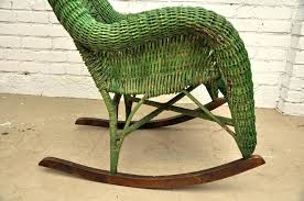 exceptional vintage rattan rocking chair picture design