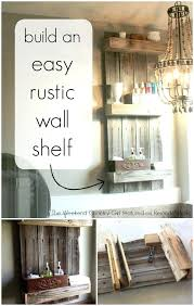 check out how built this easy rustic wall shelf for her bathroom and she used fencing these rustic bathroom