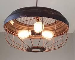 vintage farmhouse lighting. Industrial 3 Bulb Metal Pendant Light - Ceiling Light, Rustic Lighting, Farmhouse, Vintage Farmhouse Lighting