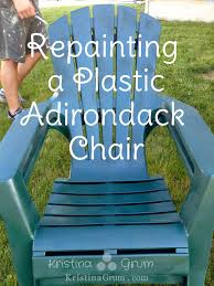 in the spring we were getting ready to put our plastic adirondack chairs out in the yard after being put away for the winter as we pulled them out