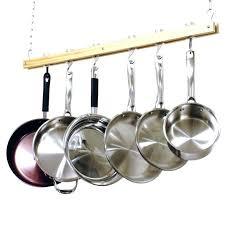 wooden pot rack cooks standard ceiling mount single bar kitchen with decorations j k large jk adams