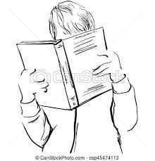 young man reading boy with book csp45474113
