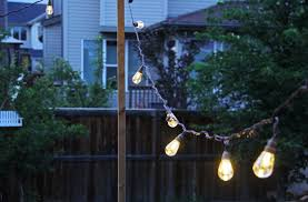ways to string lights in your backyard