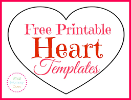 large templates free printable heart templates large medium small stencils to