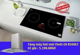 5 mẫu bếp từ Chefs được tặng kèm máy hút mùi kính cong khi mua