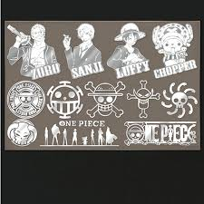 PowerAngel <b>12pcs</b>/<b>set</b> Anime <b>One Piece</b> Metal Decal Stickers for ...