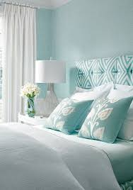 Thinbaut Designs | Bedroom | Color Palette: Aqua Blue White