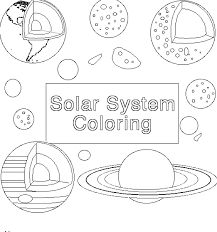 Space Solar System Planets Coloring Page For Kids Printable