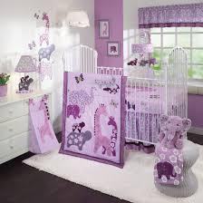 Lavender Nursery Purple Baby Girl Nursery Decorating Ideas With Jungle Themes