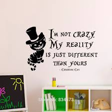 Alice In Wonderland Wall Decor Alice In Wonderland Inspired Cheshi Re Cat Mad Hatter Smile Wall