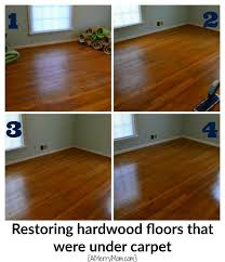 restoring hardwood floors that were hidden under carpet without sanding and refinishing the wood it can be so simple to re original hardwood floors