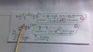capacitor equations charging and discharging
