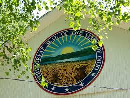 ohio seal painted aluminum on barn union county ohio painted hdu sign plain city ohio