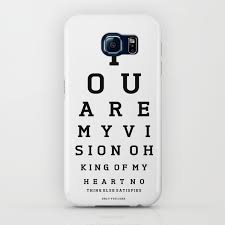 Smartphone Eye Chart You Are My Vision Eye Chart Iphone Case